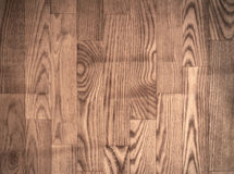 Brown parqueted floor, wooden texture with Stock Photography