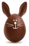 Brown Pascua Bunny Chocolate Egg Foto de archivo libre de regalías