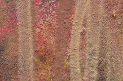 Brown paskował graffiti farbę Zdjęcie Stock
