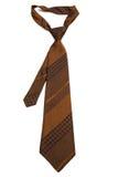 Brown paskował krawat Fotografia Stock