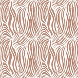 Brown paskował zebra zwierzęcego bezszwowego wektorowego druk Zdjęcia Royalty Free