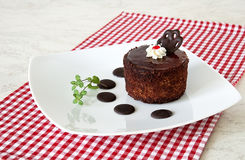 Brown pastry with decor Royalty Free Stock Photos