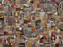 BROWN patchwork photomontage background Stock Photography
