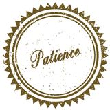 Brown PATIENCE grunge stamp Royalty Free Stock Photos