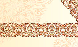 Brown pattern on begey background Stock Photo