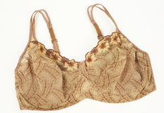 Brown pattern bra Royalty Free Stock Photo