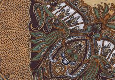Brown ethno fabric Stock Image