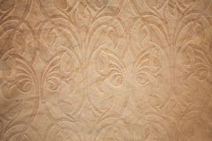 Brown pattern on fabric Stock Images