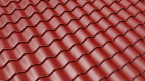 Brown pattern of roof tile 3D. Architecture detail Royalty Free Stock Photography
