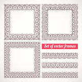 Brown patterned frames - 1 Stock Photo