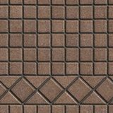 Brown Pave Slabs in the Form of Small Squares and. Triangles. Seamless Tileable Texture Royalty Free Stock Photo