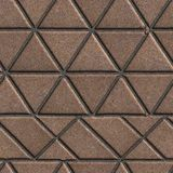 Brown Pave Slabs in the Form of Triangles and Royalty Free Stock Image