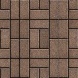 Brown Pave Slabs Rectangles Laid out in a Chaotic Stock Photos