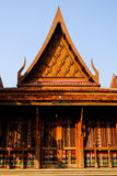 Brown pavillion. Isolated thai style brown pavillion Stock Images