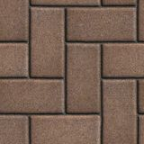 Brown Paving of Sidewalk Slabs Rectangles Stock Image