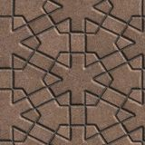 Brown Paving Slabs Built of Crossed Pieces a Stock Photos