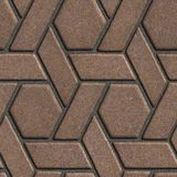 Brown Paving Slabs Built of parallelograms and Royalty Free Stock Photos