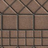 Brown Paving Slabs of the Figures Different. Geometrical Shape. Seamless Tileable Texture Stock Photo