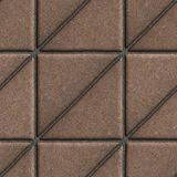 Brown Paving Slabs in the Form Square of a royalty free stock images