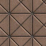 Brown Paving Slabs in the Form of Squares. Different Shape. Seamless Tileable Texture Stock Photos