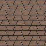 Brown Paving Slabs in the Form Trapezoids Royalty Free Stock Image