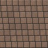 Brown Paving Slabs Laid out in Small Squares. Seamless Tileable Texture Royalty Free Stock Images