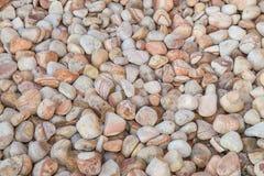 Brown pebbles background Stock Photos
