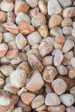 Brown pebbles background Stock Images