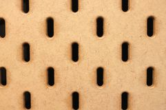 Brown pegboard Texture background stock photography