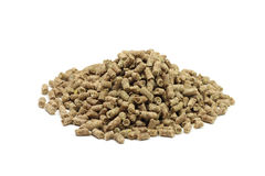 Brown pellets Royalty Free Stock Images