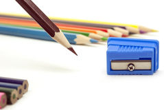 Brown pencil stock photography