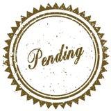 Brown PENDING grunge stamp. Illustration image concept Stock Photos