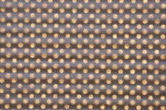 Brown peper geometric grid with holes Royalty Free Stock Image