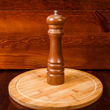 Brown pepper mill Stock Photos