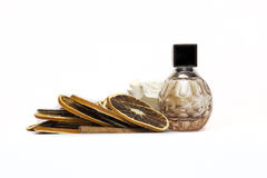 Brown perfume bottle royalty free stock images