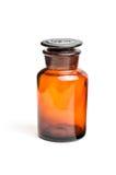 Brown pharmacy bottle Royalty Free Stock Image