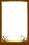 Brown photo frame. A brown photo frame perfect for inserting your own picture to make a personalised picture frame. Great for gifts, momentos and creating a Stock Photo