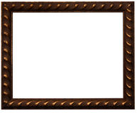 Brown photo frame stock images