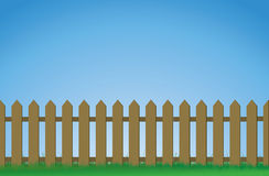 Brown picket fence Royalty Free Stock Photos