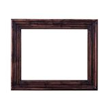 A brown picture frame, isolated Stock Image