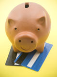 Brown Piggy Bank Stock Photography