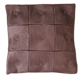 Brown pillow. Isolated Stock Images