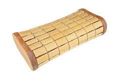 Brown pillow made from bamboo isolated Stock Photography