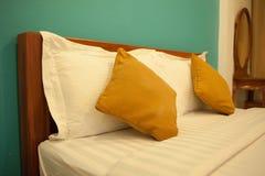 Brown pillows Stock Photos