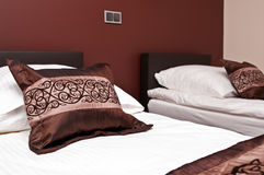 Brown pillows Stock Image