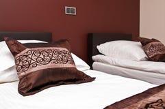Brown pillows Stock Image