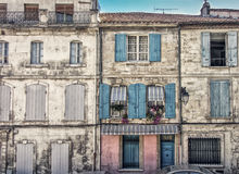Brown Pink and Blue Concrete Buildings Royalty Free Stock Photos