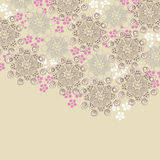 Brown and pink floral design Stock Photos
