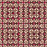 Brown pink folk hearts and flower seamless pattern stock illustration