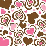 Brown and Pink Hearts Background Stock Photos